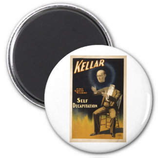 Magician Harry Kellar - self Decapitation Trick 2 Inch Round Magnet