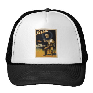 Magician Harry Kellar - self Decapitation Trick Mesh Hat