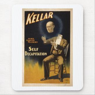 Magician Harry Kellar - self Decapitation Trick Mouse Pad