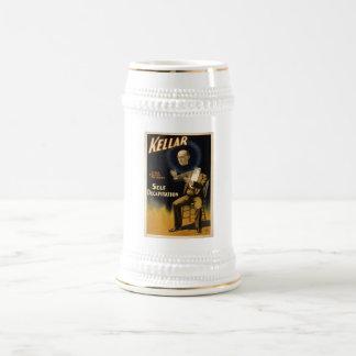 Magician Harry Kellar - self Decapitation Trick 18 Oz Beer Stein