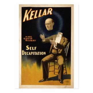 Magician Harry Kellar - self Decapitation Trick Postcard