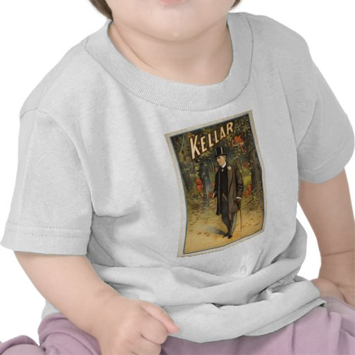 Magician Harry Kellar with Cane. Tshirt