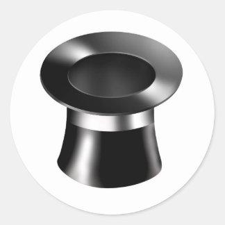 Magician Hat Classic Round Sticker