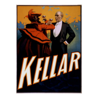 Magician Kellar toasts the Devil Poster