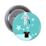 Magician kid birthday party 2 inch round button