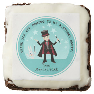 Magician kid birthday party brownie