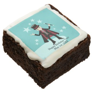 Magician Kid Birthday Party Chocolate Brownie