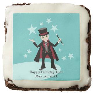 Magician Kid Birthday Party Chocolate Brownie