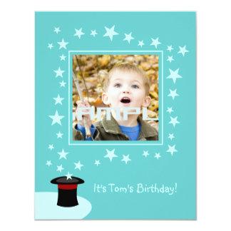 Magician kid birthday party 4.25x5.5 paper invitation card