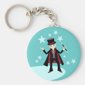 Magician Kid Birthday Party Keychain