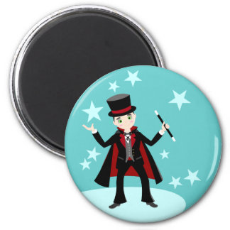 Magician kid birthday party magnet