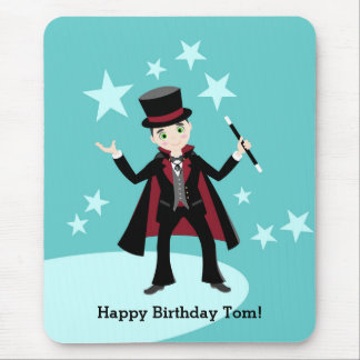 Magician kid birthday party mouse pad