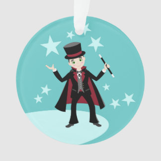 Magician kid birthday party ornament