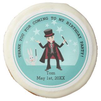 Magician Kid Birthday Party Sugar Cookie