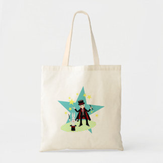 Magician kid birthday party tote bag