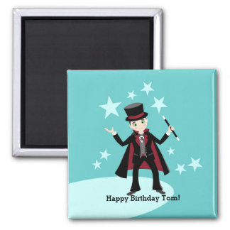 Magician kids birthday party magnet