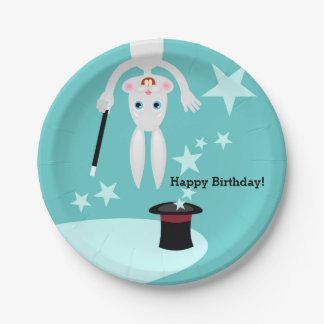 Magician kids birthday party paper plate