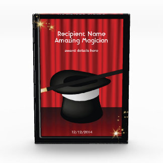 Magician Magic Hat Custom Award