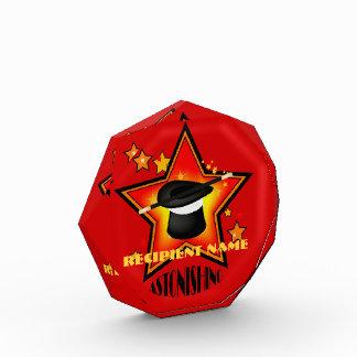 Magician Magic Hat Star Custom Award