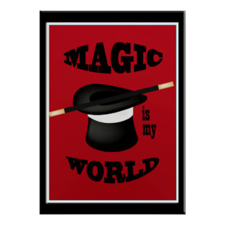 Magician Magic Is My World Poster