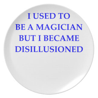 MAGICIAN MELAMINE PLATE