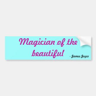 Magician of the beautiful, - James Joyce Bumper Sticker