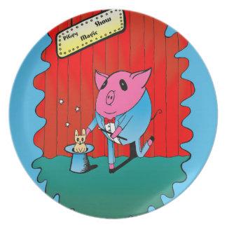 Magician PiGgy! Melamine Plate