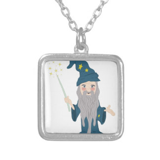 Magician Silver Plated Necklace