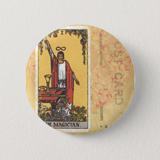 Magician Tarot Card Fortune Teller Postcard Button