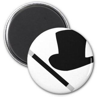 magician top hat and magic wand fridge magnets