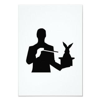 Magician top hat rabbit card
