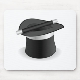 Magician Wand and Hat Mouse Pad