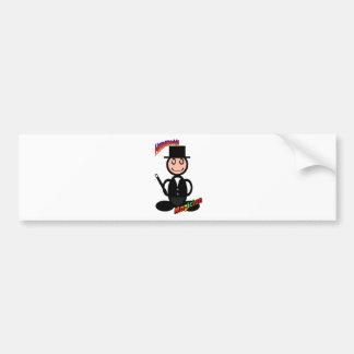 Magician (with logos) bumper sticker