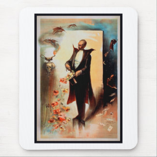 Magician with skull and roses (1892) mouse pad