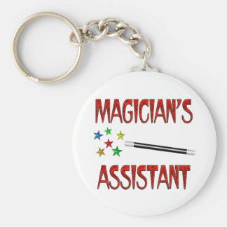 Magicians Assistant Basic Round Button Keychain