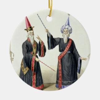 Magicians at the Carnival in Berlin, 1836 (colour Ceramic Ornament