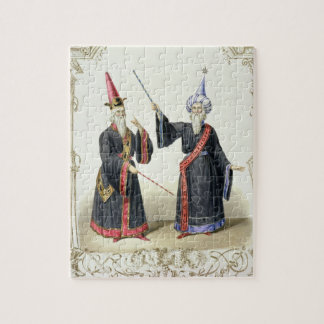 Magicians at the Carnival in Berlin, 1836 (colour Jigsaw Puzzle