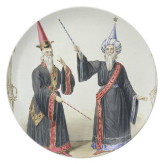 Magicians at the Carnival in Berlin, 1836 (colour Melamine Plate
