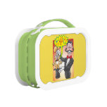 Magician's bunny feeling mad and saying bad words lunch box