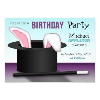 "Magician's Hat - Kids Birthday Party Invitations 5"" X 7"" Invitation Card"