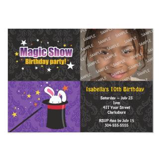 Magician's Rabbit Birthday Party 5x7 Paper Invitation Card