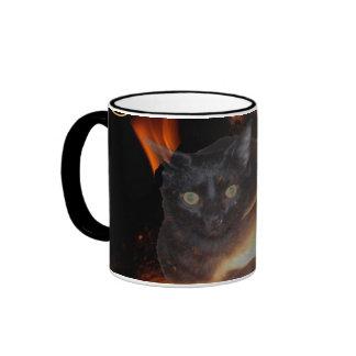 Magick Cat Ringer Coffee Mug