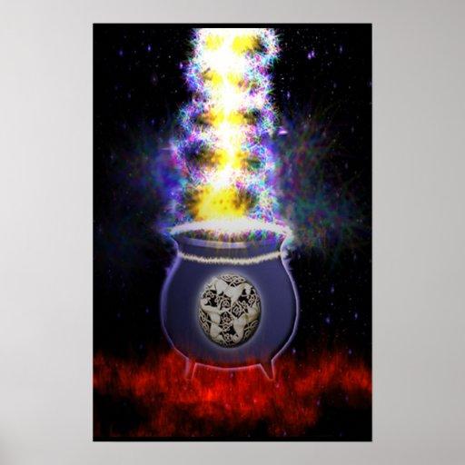 Magick Cauldren  Mothers  Womb Print