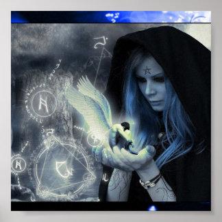 Magick In Her Hands Poster