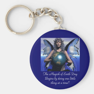 Magick of EarthDay Basic Round Button Keychain