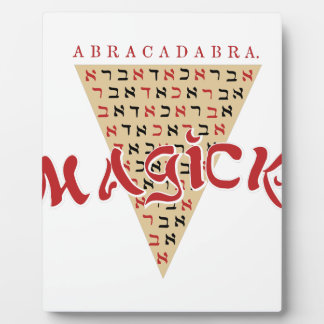 Magick Plaque