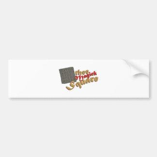 Magick Square Bumper Sticker