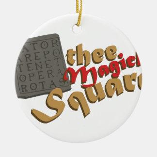 Magick Square Ceramic Ornament