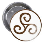Magick - Triskele 3 Inch Round Button