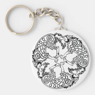 Magick - Wolf Basic Round Button Keychain